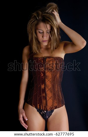 Sexy Model in Bustier - stock photo