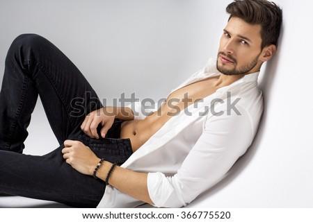 Sexy model posing - stock photo