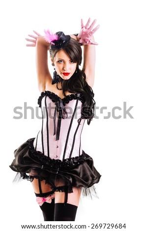 Sexy Moulin Rouge Lesbian Girls Wearing Stock Photo 271367786 Shutterstock