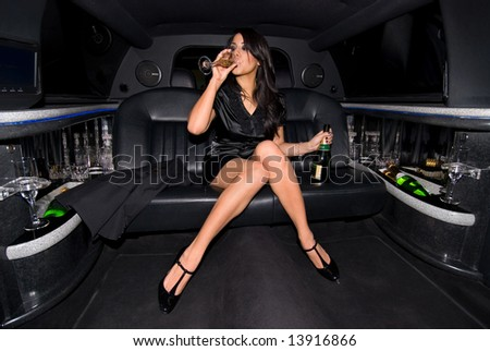 Sexy party girl. - stock photo