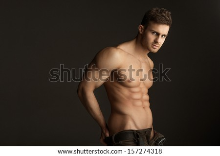 Sexy shirtless man