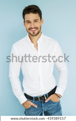 Sexy smiling business man