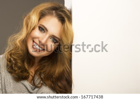 Sexy smiling woman  - stock photo