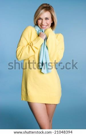 Sexy Winter Woman - stock photo