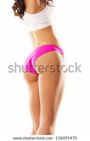 Sexy woman body. Great ass - stock photo