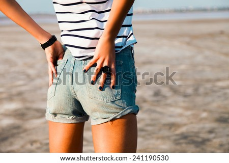 Denim Shorts Stock Images, Royalty-Free Images & Vectors ...