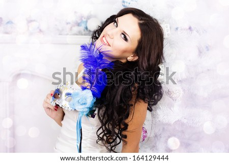 Sexy woman in winter clothes - stock photo