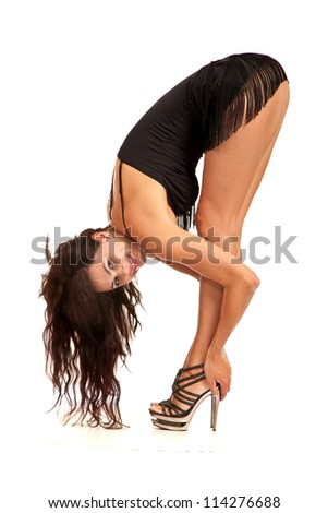 Sexy woman isolated on a white background - stock photo