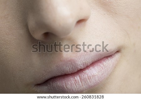 Sexy woman Mouth close up