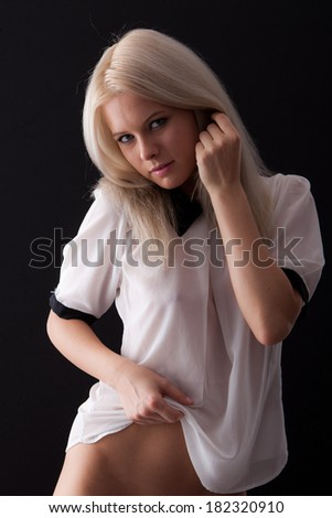 sexy woman - temptation - stock photo