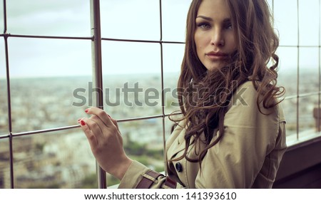 Sexy woman with beautiful eyes - stock photo