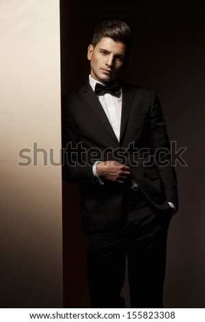 Sexy young man in suit