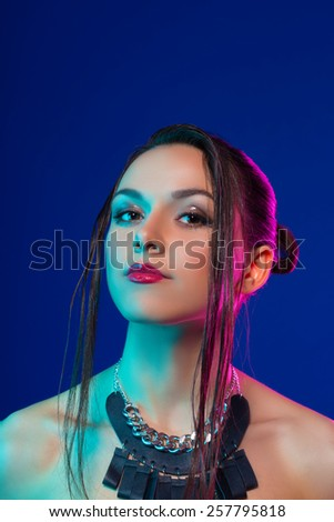 Sexy young pretty woman - stock photo