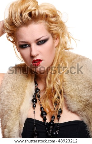 sexy young woman in diva image - stock photo