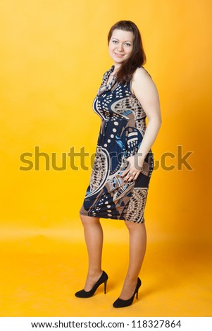 sexy young woman staying - stock photo