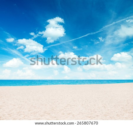 Seychelles beach - stock photo