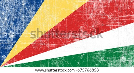 Seychelles flag grunge background. Background for design in country flag