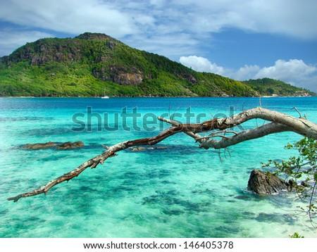 Seychelles round island - stock photo