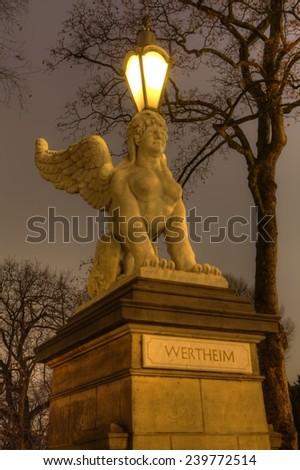 Sfinx lantern  - stock photo