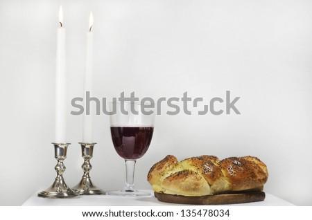 Shabbat Meal - stock photo