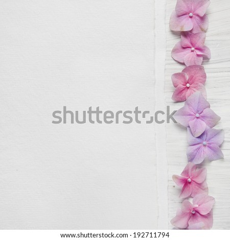 Shabby Chic Background with pink flowers - stock photo