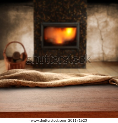 shabby chic interior and fireplace