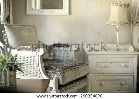Shabby Chic Interior Design  - stock photo