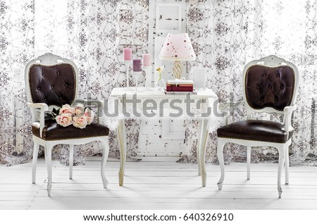 Shabby Chic Room Interior Wedding Decor Stock Photo (Download Now ...