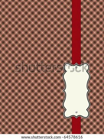 Shabby Patterns with dark red ribbon - stock photo