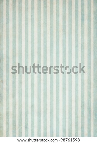 Shabby textile Background with colorful green and white stripes - stock photo