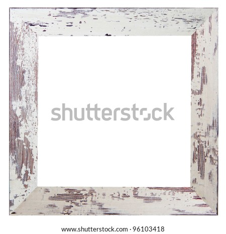 shabby white frame - stock photo