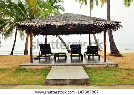 Shack on tropical beach