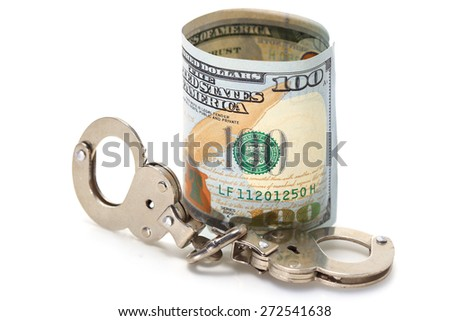 Shackle and Banknote - stock photo
