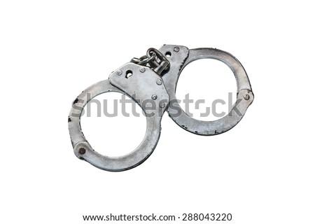 shackle on isolate white background - stock photo