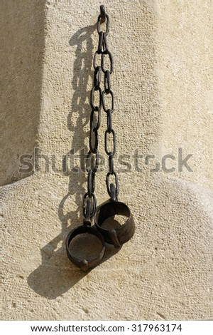 shackles pillory - stock photo