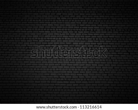 Shaded brick wall texture closeup background. - stock photo