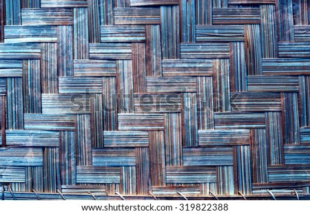 Shades of blue and brown wicker textured background. - stock photo
