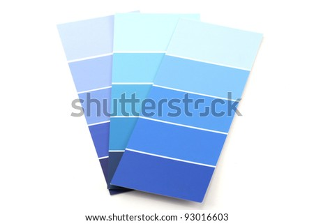 Shades of Blue Paint Swatches - stock photo