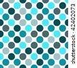 Shades of Blue Polka Dot - stock vector