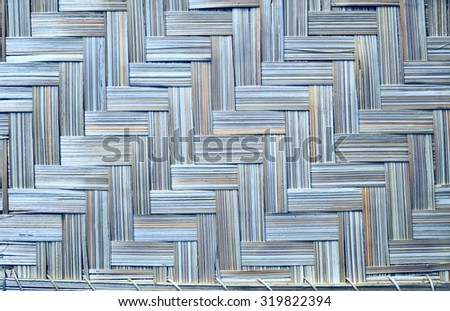 Shades of blue wicker textured background. - stock photo