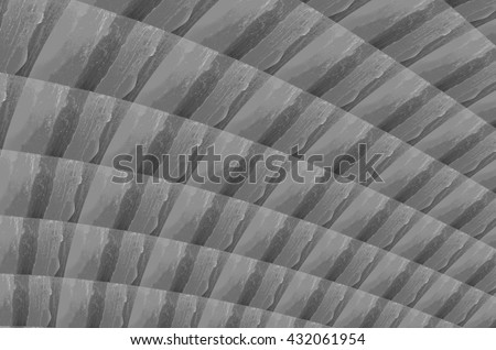 Shades of Grey Arched Rough Stripe Wax Texture