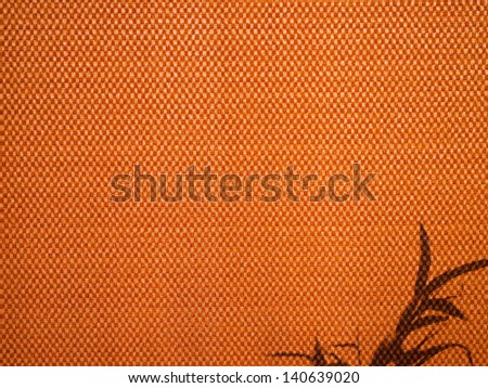 Shadow of tree leaves on fabric as background. - stock photo