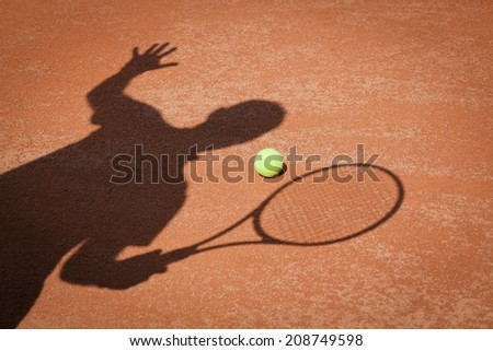 shadow , tennis background