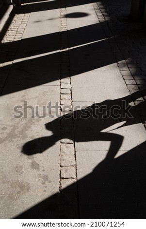 Shadows in copenhagen borgen - stock photo