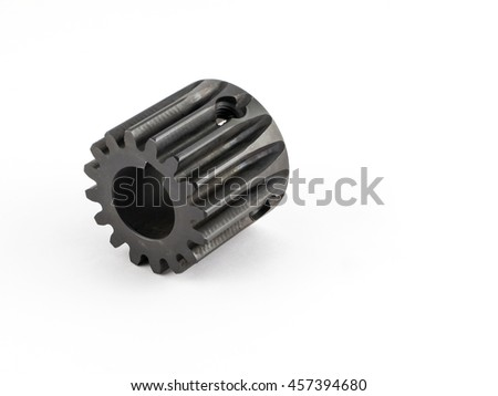 shaft gear with retaining screw