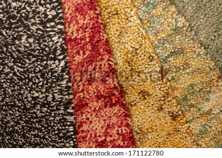 Shaggy woolen carpet of handwork