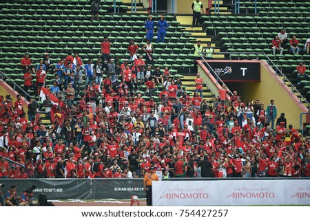 Shah alam,Malaysia,15aug2017:Unidentified supporter during SEAGames 28th between Thailand against Indonesia at Shah alam stadium,Malaysia