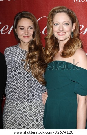 Shailene Woodley, Judy Greer at the 23rd Annual Palm Springs International Film Festival Awards Gala, Palm Springs Convention Center, Palm Springs, CA 01-07-12