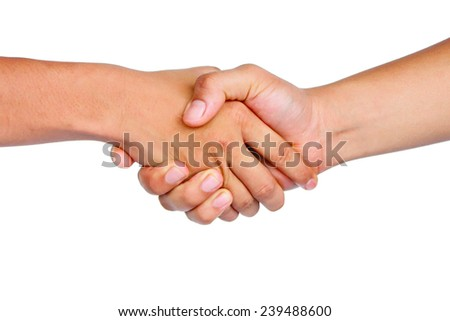 shake hand on isolated background