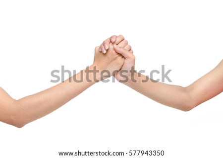 shake hands  on white background